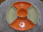 Fiestaware 6 pc Relish Entertaining set in Ivory and Tangerine. Includes tray.