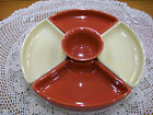 Fiestaware 6 pc Relish Entertaining set in Ivory and Paprika. Includes 12