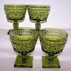 Anchor Hocking Stemware Dessert Bowl Dish Sherbert 60's Green Dinnerware Party