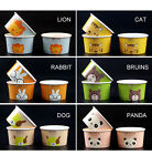 3 5 8 10 12 oz Disposable Paper Ice Cream Cups Cream Tub Bowl Animal Patterned