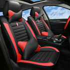 Us Stock 5 Seats Car Seat Covers Cooling Meshpu Leather Frontrear Cushion Set