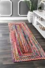 nuLOOM Handmade Casual Cotton Braided Runner Area Rugs 2 6 x 8 Multicolor