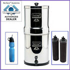 Travel Berkey Water Filter w 2 Black Filters and 1 Berkey Sport Bottle