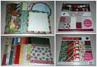 Huge Christmas Scrapbook Paper Lot DCWV Craft Smith Crate Paper All 12x12