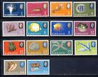 Barbados QEII fish and marine life mnh vf set with coralcrustaceans sea shells
