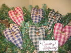 6 Country fabric heart bowl fillers wreath garland-making Valentine Home Decor