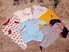 6 piece lot 6 Month baby boy Carter clothing sleepers onsies