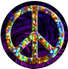 Peace Decal 4 Inch Printed Vinyl Sticker