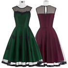 Womens Vintage 1950s Style HOUSEWIFE Pinup Evening Swing Party TEA Dress S XL