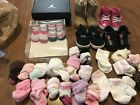 Infant Girl 5 Pairs Sneakers Shoes 25 Pairs Socks Lot Size 2c