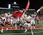 Baker Mayfield Oklahoma Sooners Football Signed 8X10 Photo Rp Flag Plant