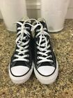 CONVERSE ALL STAR Chuck Taylor Mens 6 Womens 8 High Top Shoes Sneakers Black