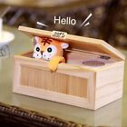 Leave Me Alone Wooden Useless Box Don't Touch Tiger Magic Relaxing Desk Toy NeBW