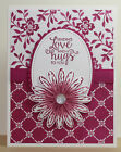Love  Hugs GREETING CARD KIT x4 Stampin Up Supplies Daisy Delight Courage