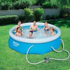 Above Ground Swimming Pool Set 10 x 30 Inflatable Round Filter Pump Outdoor