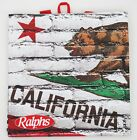 Ralphs Reusable Grocery Tote Bag California State Flag Grizzly Bear