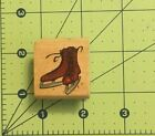 Ice Skates Rubber Wood Stamp 125 X 15
