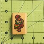Easter Eggs Rubber Wood Stamp 125 X 175