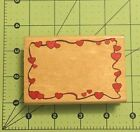 Hearts Boarder Rubber Wood Stamp 35 X 25
