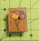 Balloons Rubber Wood Stamp 2 X 15