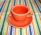 Fiesta RETIRED PERSIMMON TEA CUP AND SAUCER ~