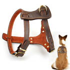 Durable Leather Big Dog Harness Mastiff Boxer Pitbull Dog Harness Vest Brown