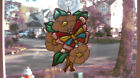 Sun Catcher Butterfly Flowers Stained Glass Plastic