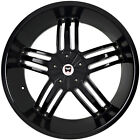 4 GWG Wheels 20 inch Black SPADE Rims fits SUZUKI EQUATOR BASE MODEL 2009 2012