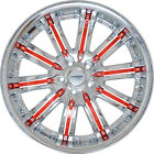 4 GWG 20 inch STAGGERED Chrome Red NARSIS Rims fits PONTIAC G8 GXP 2009