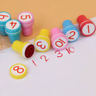 10pcs Kids Numbers Stamp Children Rubber Self Inking Stampers Toys DIY Crafts US