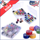 Machine Bobbin Sewing Embroidery Thread 50 Spools Lot Case Brother Janome New
