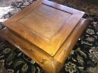 Antique Asian Ming Table With Rattan Accent On Top