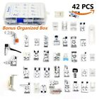42 Pcs Presser Feet Set Sewing Machine Foot Kit for Brother Babylock Janome Elna