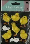 JOLEES BOUTIQUE DIMENSIONAL 8 STICKERS BABY CHICKS