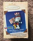 2004 Hallmark Ornament Spotlight on Snoopy THE WINNING TICKET. NEW