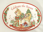 Fitz & Floyd Christmas Sentiment Oval  Serving Tray Celebrate the Season