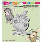 Stampendous Pumpkin Mouse HMCV20 Halloween Cling Stamp Cute House Mouse