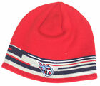 Tennessee Titans Red Knit Stripe Beanie