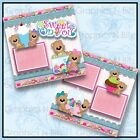 12 x 12 Printed Premade Scrapbook 2 Page Layouts SWEET ON YOU