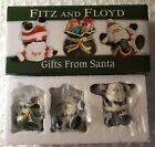 Fitz and Floyd Gifts from Santa Tumblers Figurines Set of 3 Christmas Holiday