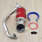 Performance Exhaust System Muffler Short Red for GY6 50cc 150cc Chinese Scooters