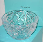 Tiffany Co Crystal Glass Bowl Dish Signed Etched Basket Weave Bamboo 6 X 35