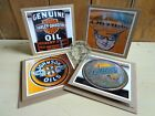 photo note cards vintage Harley Davidson oil can Oilzum 4 blank greeting cards