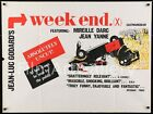 WEEK END WEEKEND 1968 UK Quad Jean Luc Godard Nouvelle Vague FilmArtGallery
