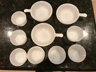 HUGE LOT Milk Glass Glasbake 7 Custard Baking Cups 79 + 3 J2633 Soup Bowls 11 oz