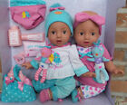 Twin Baby Dolls Hispanic 22 Pc Set Reborn realistic 15 NIB eyes open close