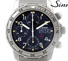 Sinn Chronograph 203.TI Titanium Black Dial Silver Day Date Automatic Watch Used