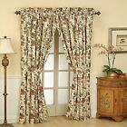 Waverly Felicite Rod Pocket Panel Curtain Crema Cream Floral 50 x 84