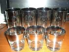 SET OF 7 DOROTHY THORPE SILVER FADE GLASSES 4 HIGHBALL 3 OLD FASHION