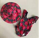 GYMBOREE Swim Shop Multi Dot Pink Flower 1pc Baby Girl Swimsuit